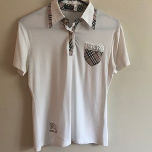 Burberry London check top with crystals